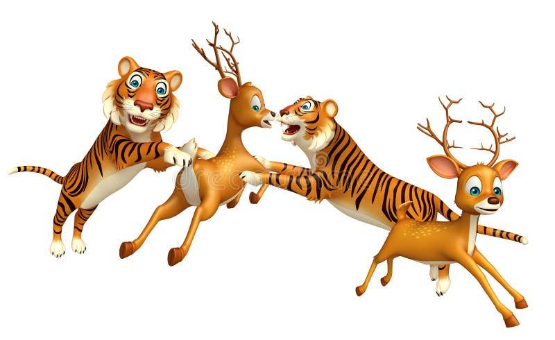 Búsqueda del tigre estimada stock de ilustración