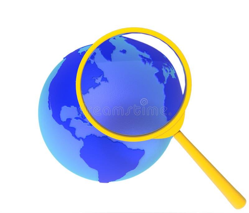 Búsqueda en World Wide Web stock de ilustración