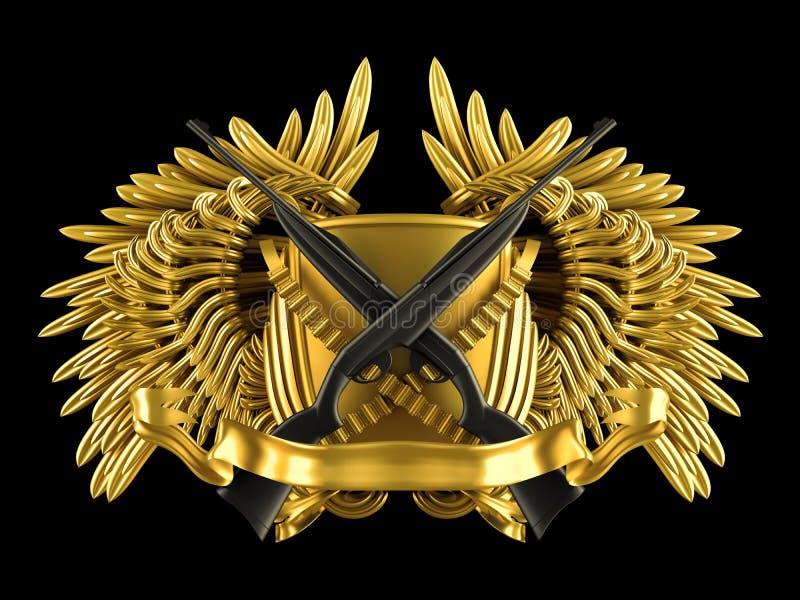 Búsqueda - escudo de armas con los rifles libre illustration