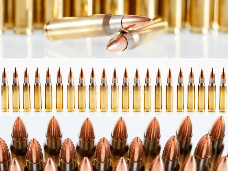 Búsqueda o munición militar Collage de diversos tipos de armas de fuego fotos de archivo
