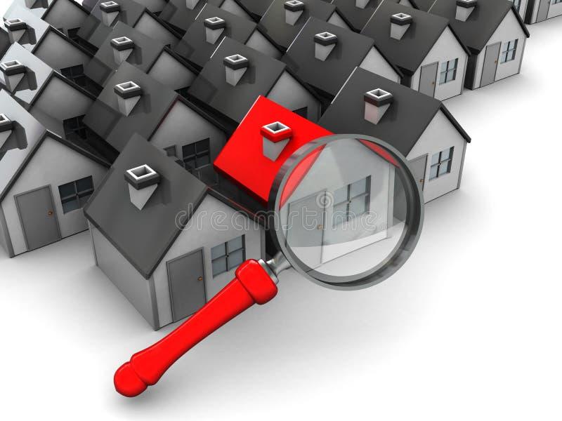 Búsqueda para el hogar ilustración del vector