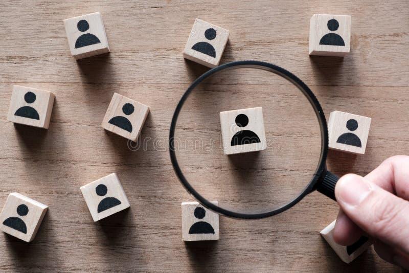 Búsqueda para el talento o el empleado el buscar imágenes de archivo libres de regalías