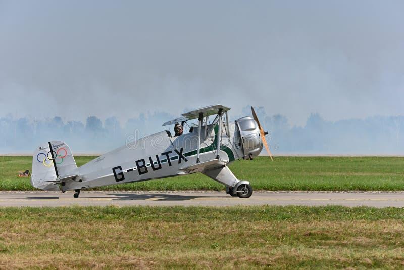 Bü-133C Jungmeister, G-Butx, aeromobili per l'addestramento fotografie stock libere da diritti