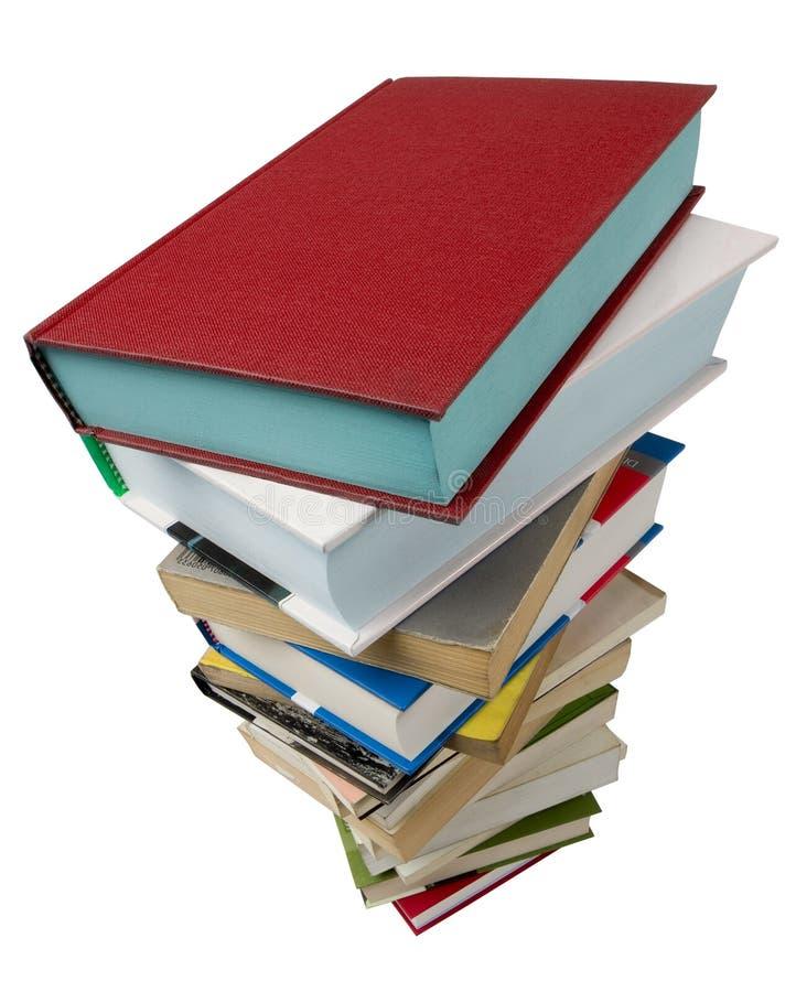 Bücher auf Weiß lizenzfreies stockbild