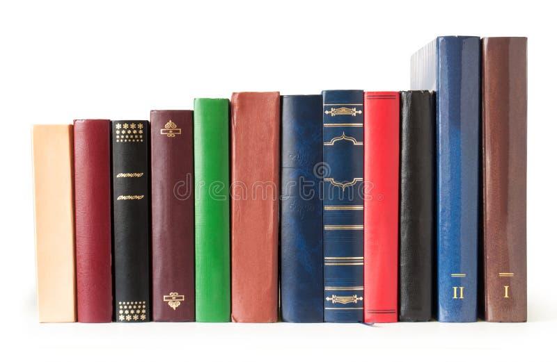 Bücher in einer Reihe lizenzfreies stockfoto