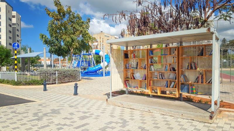 Bücher für freies heben in der israelischen Stadt auf lizenzfreie stockbilder