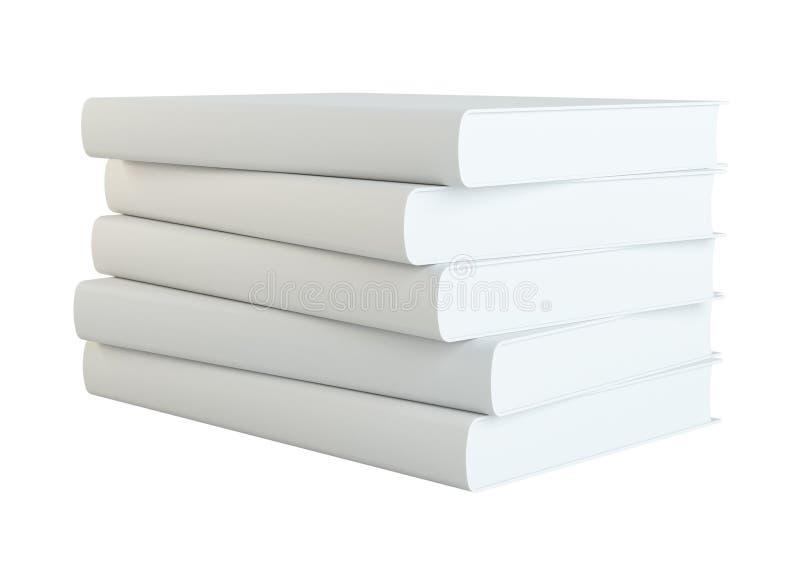 Bücher getrennt auf weißem Hintergrund stockbilder
