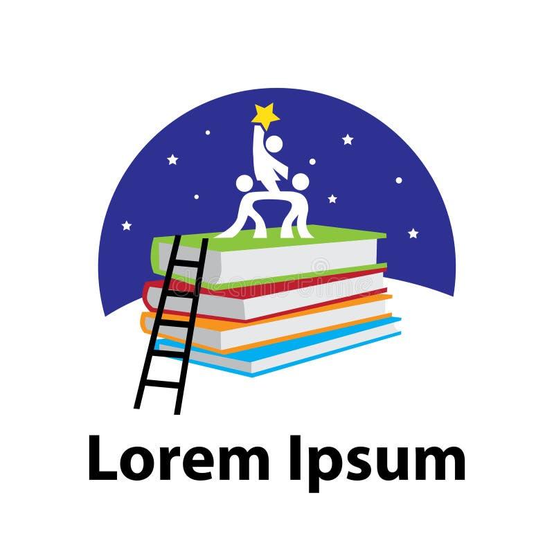 Bücher, Kinder und Sterne stock abbildung