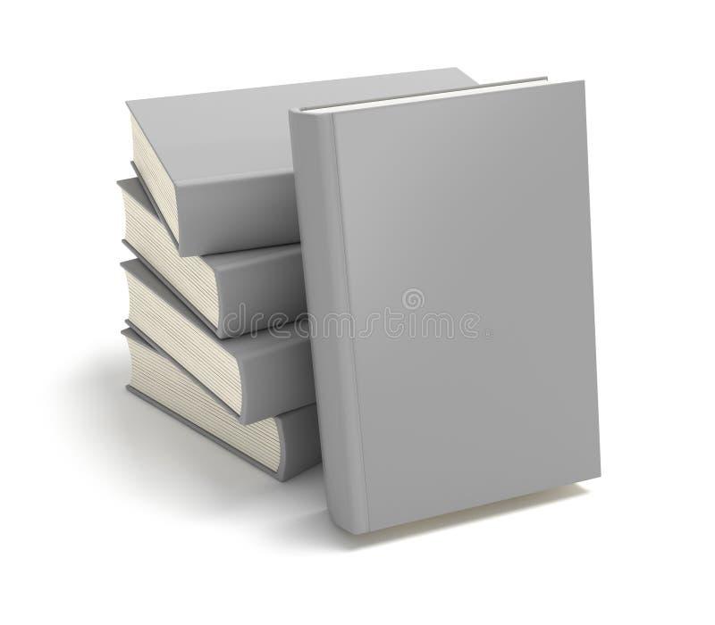 Bücher mit freier Abdeckung im Stapel stock abbildung