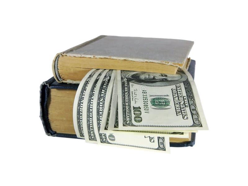 Bücher und Dollar stockfotos