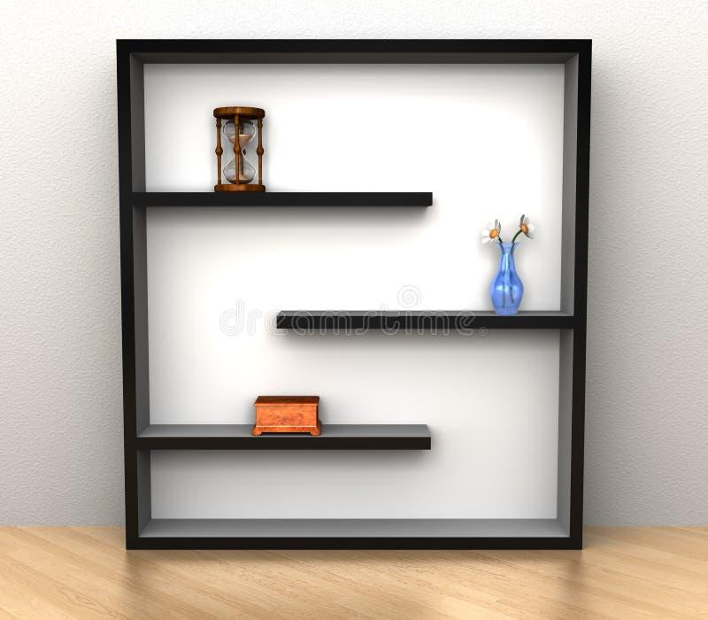 Bücherregal lizenzfreie abbildung