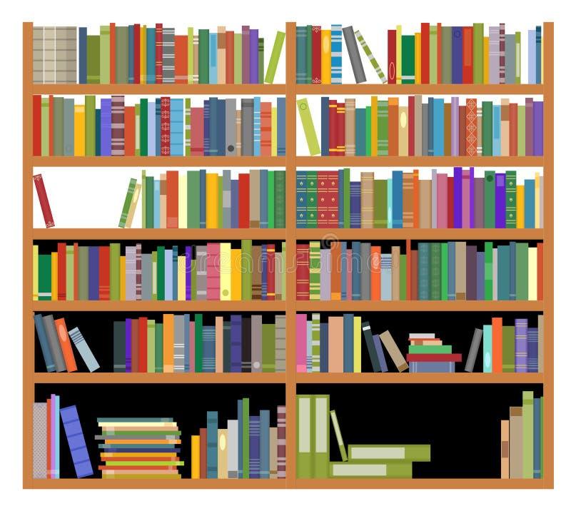 Bücherregal Aus Büchern bücherregal mit büchern vektor abbildung illustration