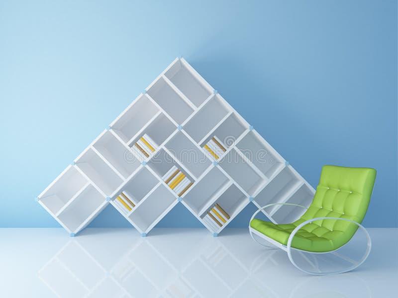 Bücherregal mit Stuhl vektor abbildung