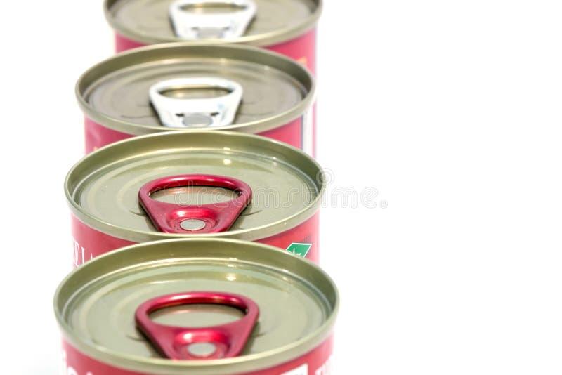 In Büchsen konservierte Nahrungsmittel stockbilder