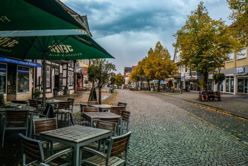 BÜCKEBURG/ALLEMAGNE - Octobre 2019 : Centre historique de Bückeburg/Bueckeburg en Allemagne image libre de droits