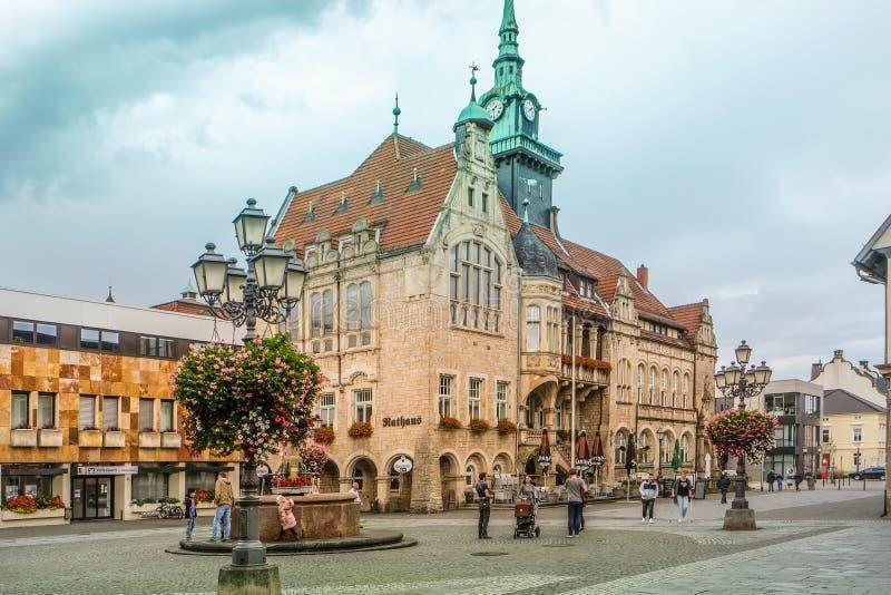BÜCKEBURG/ALLEMAGNE - Octobre 2019 : Townhall dans le centre historique de Bückeburg/Bueckeburg en Allemagne photographie stock