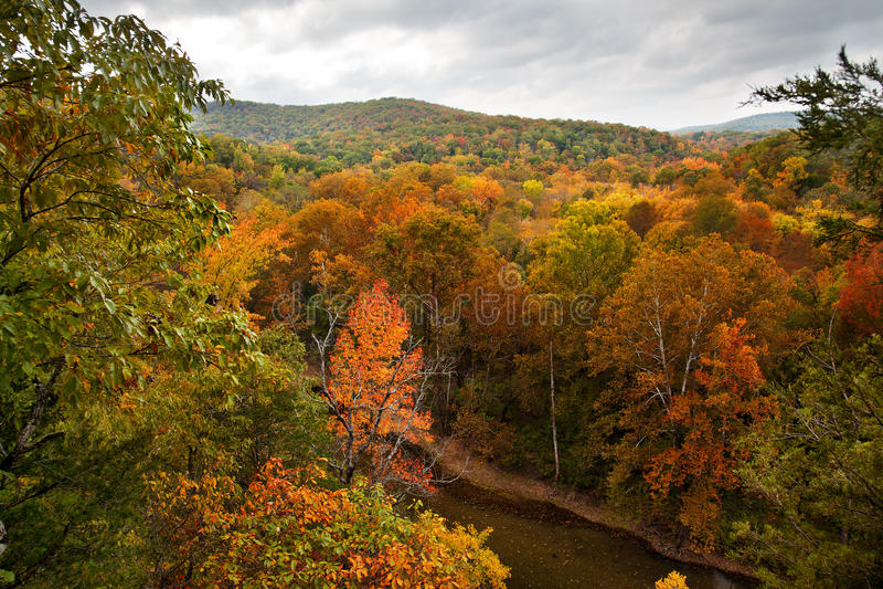 Download Büffel-Fluss im Herbst stockbild. Bild von ozarks, schön - 27728091