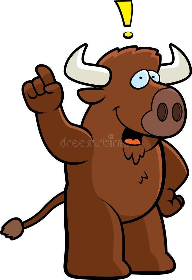 Büffel-Idee stock abbildung
