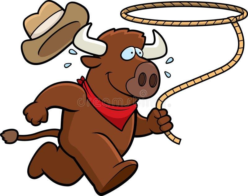Büffel-Rodeo lizenzfreie abbildung