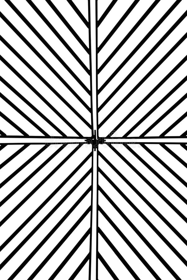 Bügeln Sie Gitter an Koberg-Quadrat in Luebeck, Deutschland stock abbildung