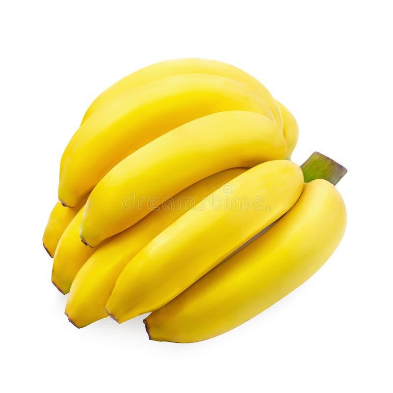 Bündel Bananen lokalisiert auf einem weißen Hintergrund lizenzfreie stockfotos