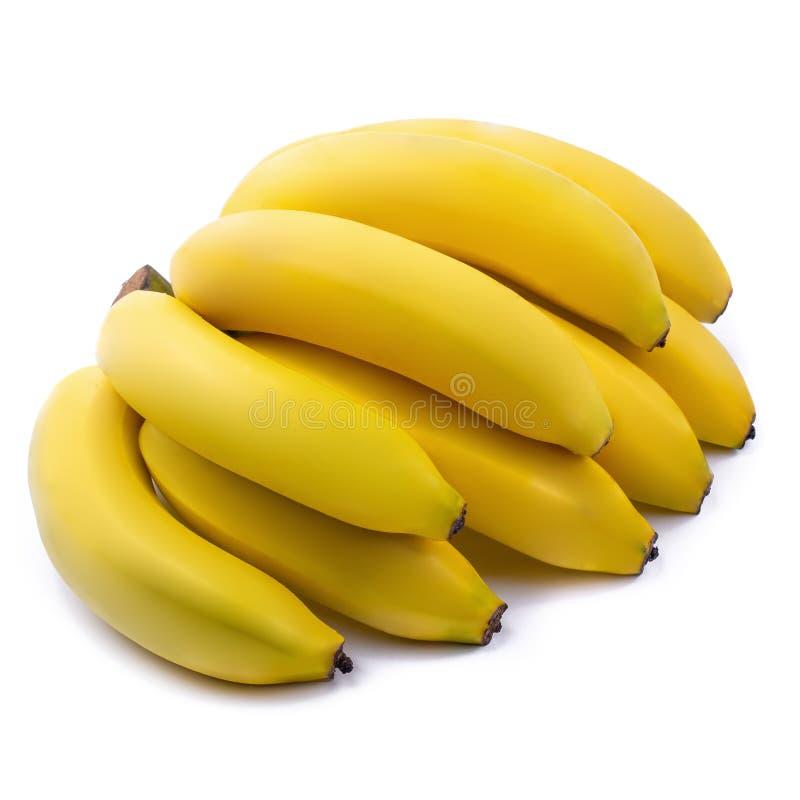 Bündel Bananen lokalisiert auf einem weißen Hintergrund lizenzfreies stockbild
