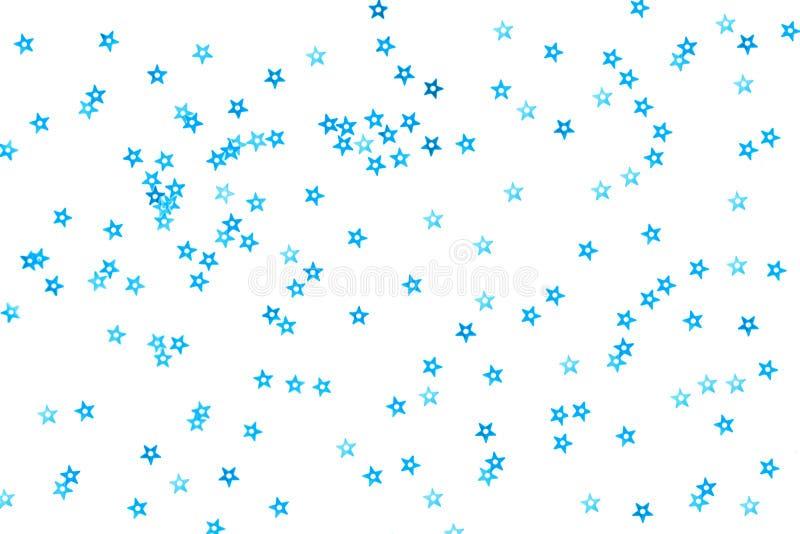 Bündel blaue Sterne auf weißem Hintergrund vektor abbildung