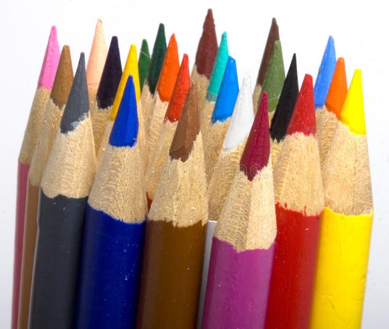 Bündel Bleistift-Zeichenstifte stockfotografie
