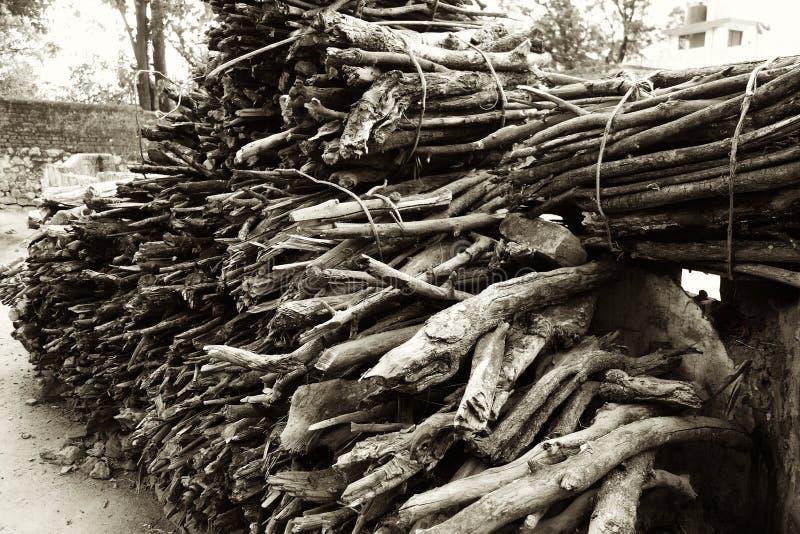 Bündel Brennholz stockfoto