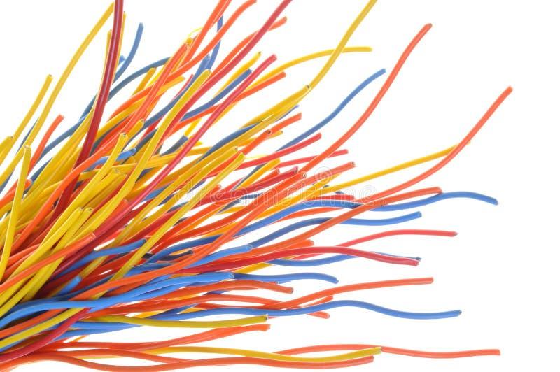 Bunte Kabel bündel bunte kabel stockbild bild daten elektriker 38447845
