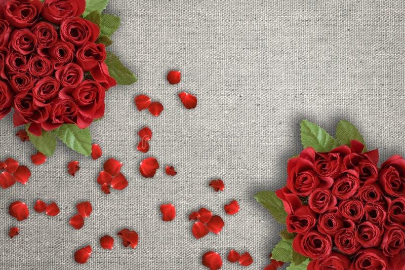 Bündel der roten Rosen lizenzfreies stockbild