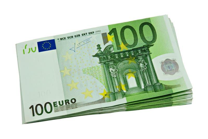 Bündel Eurobargeld lizenzfreie stockfotos