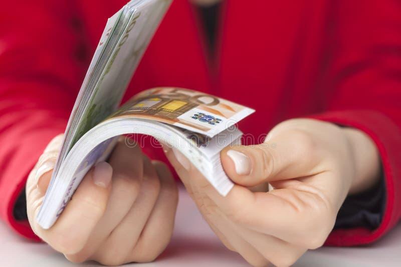 Bündel Euros stockbilder