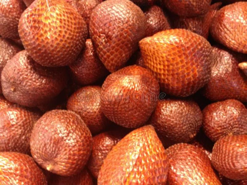 Bündel frische Salacca-Frucht lizenzfreie stockfotografie