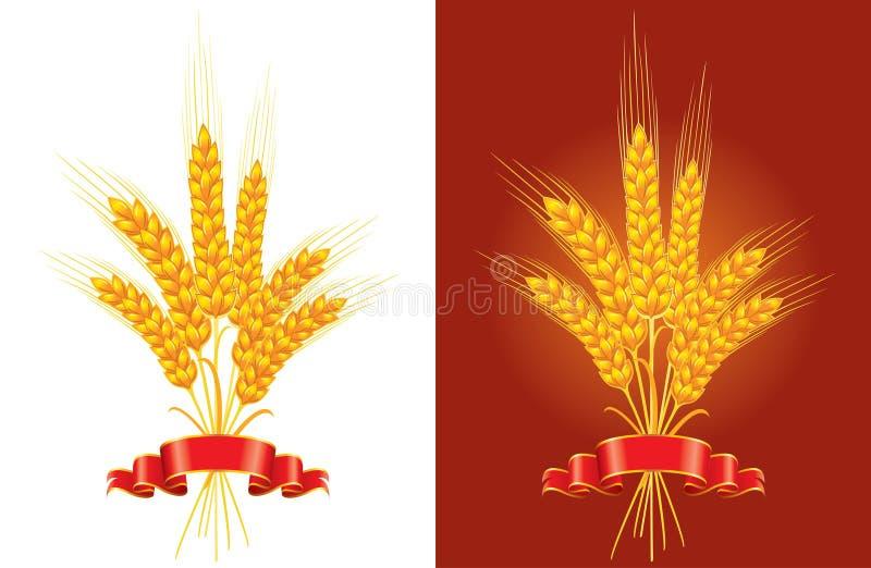 Bündel goldener Weizen stock abbildung