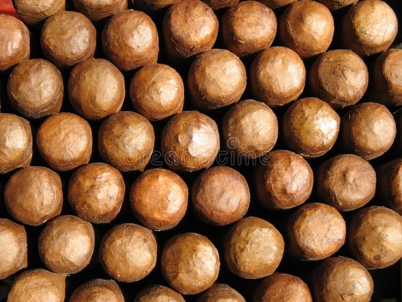 Bündel kubanische Zigarren stockfotos