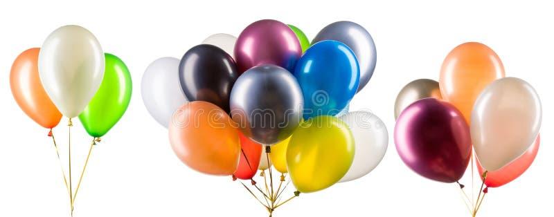 Bündel mehrfarbiger Heliumballons Dekorationsteil für Partys lizenzfreies stockfoto