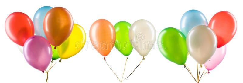 Bündel mehrfarbiger Heliumballons Dekorationsteil für Partys stockbild