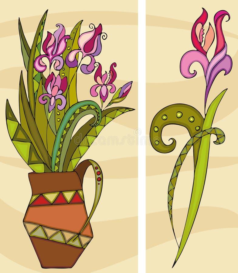 Bündel-Purpur-Blumen vektor abbildung