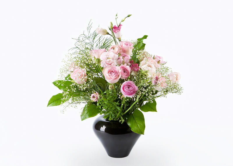 Bündel rosafarbene Blumen stockfotos