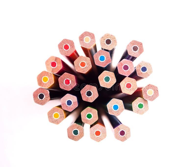 Bündel von Farbenbleistift 01 lizenzfreies stockfoto