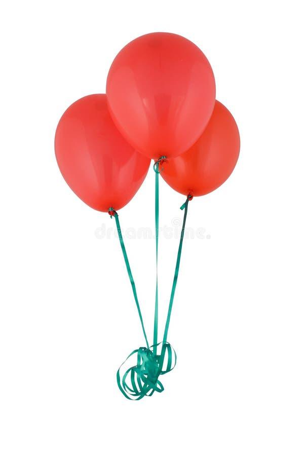 Bündel von rotem Baloons stockbild