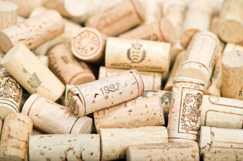 Bündel Weinkorken lizenzfreie stockbilder