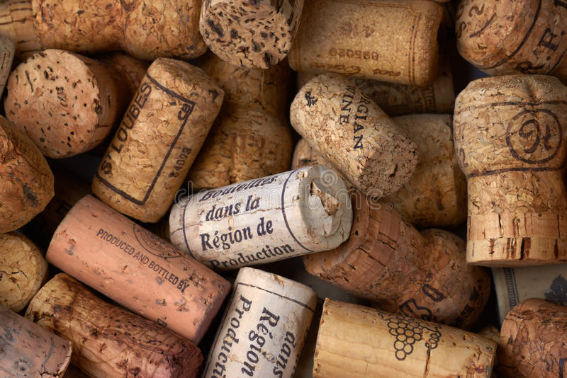 Bündel Weinkorken stockbilder