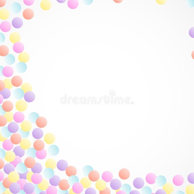 Bündelhintergrund von den Gruppen der mehrfarbigen Aquarellkonfettis stock abbildung