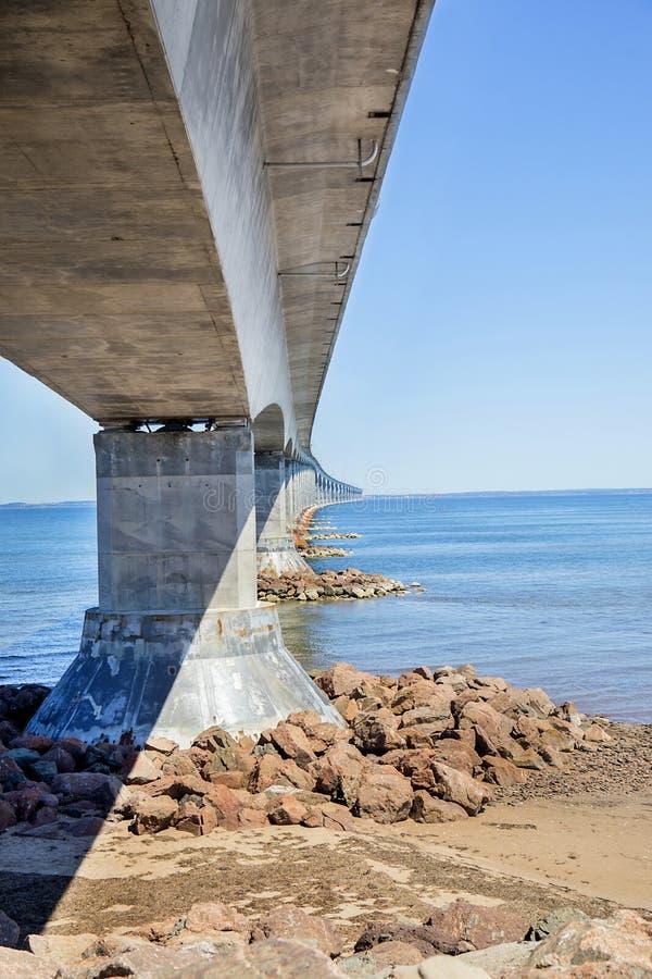 Bündnis-Brücke, New-Brunswick, Kanada lizenzfreie stockfotos