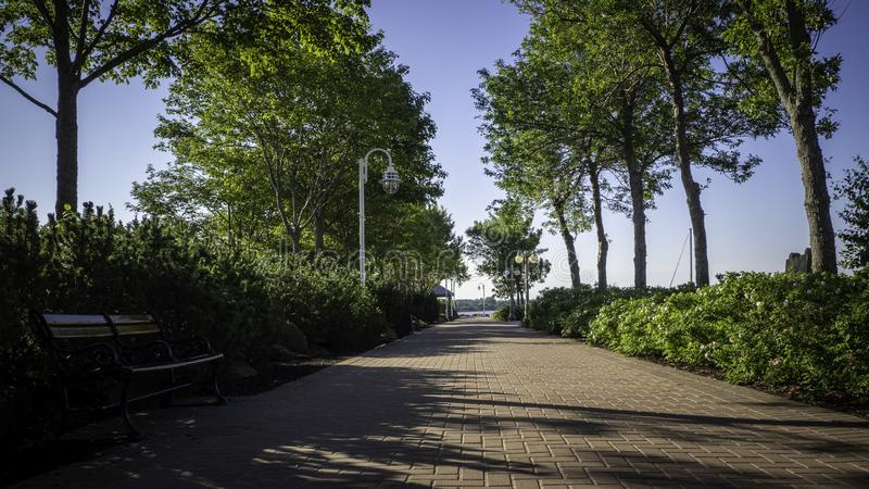 Bündnis-Landungs-Park im Stadtzentrum von Charlottetown, Prinz Edward Island, Kanada stockfotos