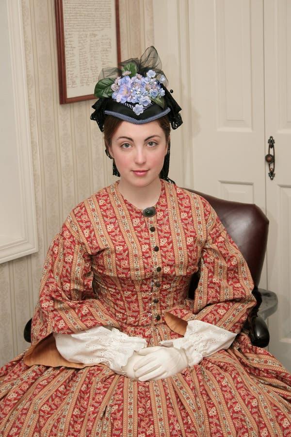 Bürgerkriegärafrau stockbild