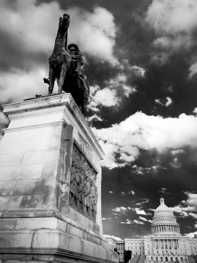 Bürgerkrieg-Denkmal, Washington DC lizenzfreie stockfotografie