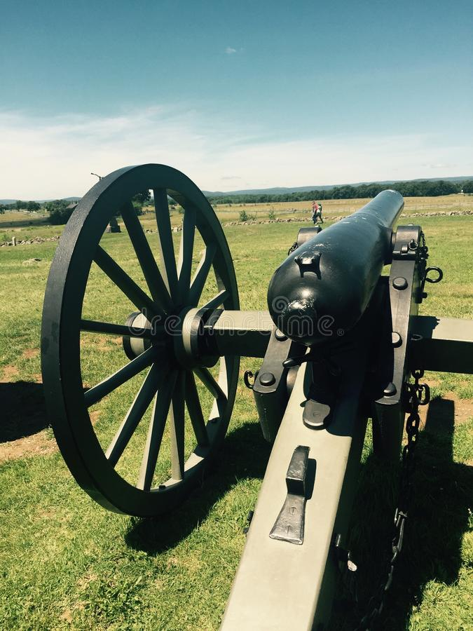 Bürgerkrieg-Kanone stockfoto